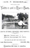 Mosher Boat House Ad 1898