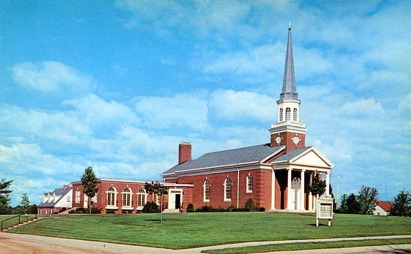 postcard depicting the Wesley United Methodist Church, the church ...