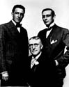 Meredith Nicholson with Hoosier authors Hewlitt Howland and James Whitcomb Riley