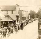 Culver Elementary children in downtown Culver faill, 1924